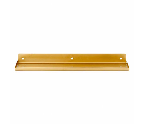 Housedoctor Wall shelf Ledge, metallic gold 43x11,5x4cm