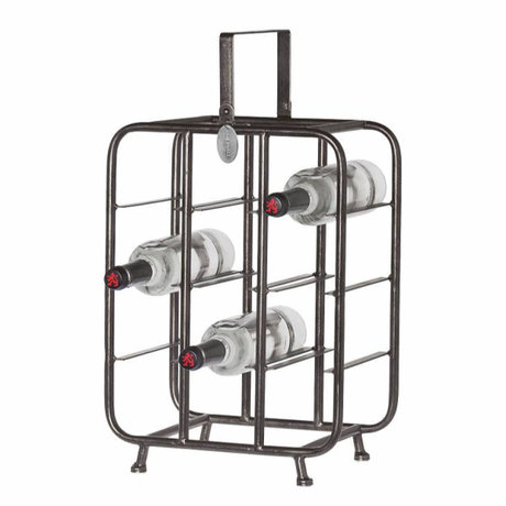 Riverdale wine rack chelsea black metal 23x33x58cm