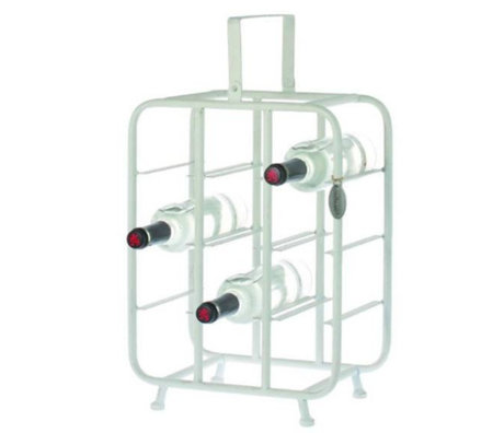 Riverdale Wine rack Chelsea white metal 23x33x58cm