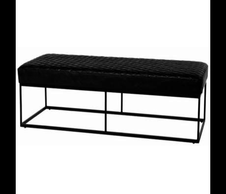 Riverdale Sitzbank Blake schwarz 48x121x43 cm