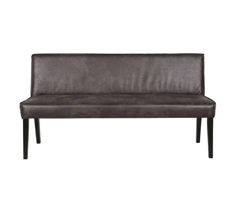BePureHome Dining room sofa Rodeo black leather 83x156x61cm