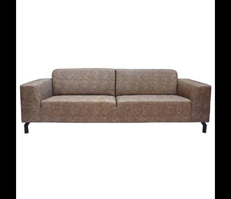 Label51 Sofa Harlem 4-Sitzer Steingraues Büffelleder 90x250x80cm