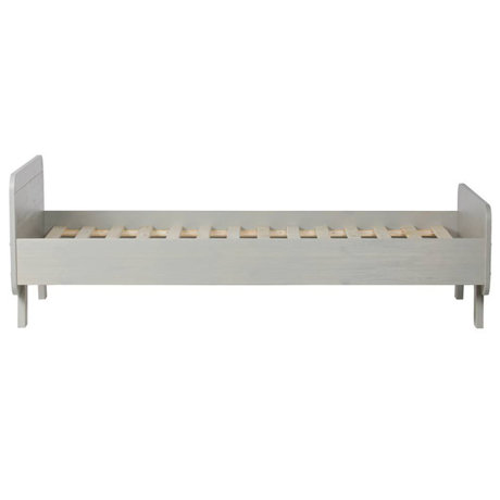 LEF collections Lit Sammie en pin gris chaud 205x95x68cm