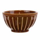 HK-living Bowl of Kyoto brown striped ceramics 11x11x6cm