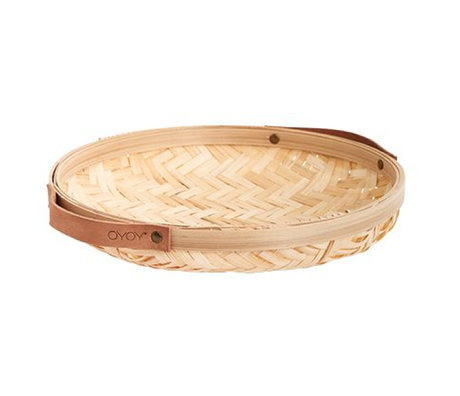 OYOY Schaal naturel bruin bamboe 30x5,5cm