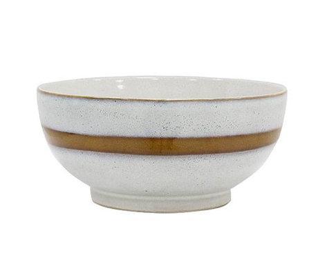 HK-living Salatschüssel L 'Stil der 70er Jahre bunten Keramik