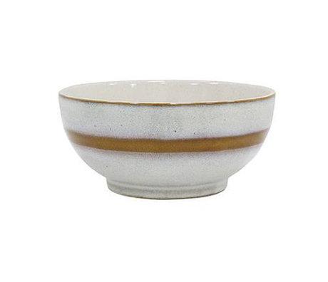 HK-living Salatschüssel M '70er Jahre Stil Mehrfarben Keramik