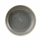 Housedoctor Assiette creuse en terre cuite grise Nord ø26,5x5,1cm