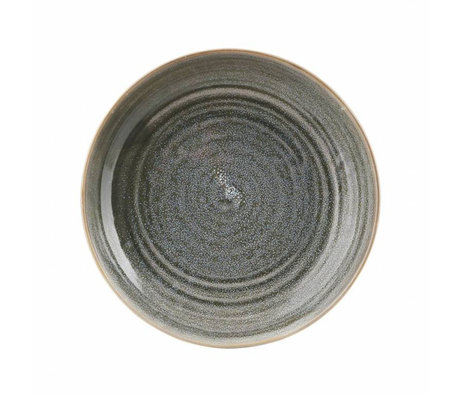 Housedoctor Deep plate Nord gray earthenware ø26,5x5,1cm