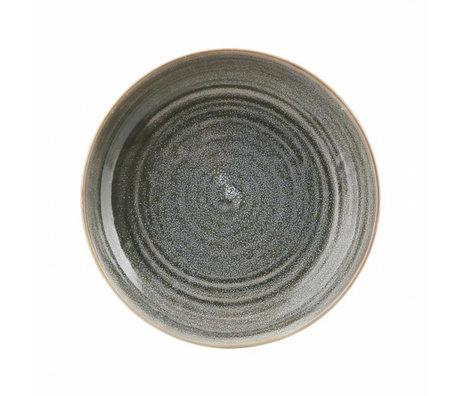Housedoctor Diep bord Nord grijs aardewerk ø26,5x5,1cm