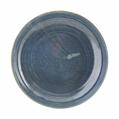 Housedoctor Assiette creuse en faïence bleu nord ø26,5x5,1cm