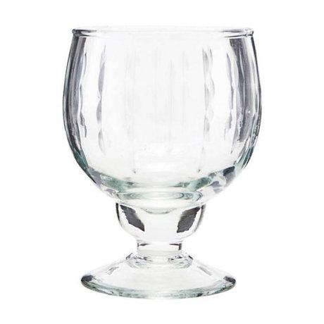 Housedoctor White wine glass Vintage transparent glass Ø7x12,5cm