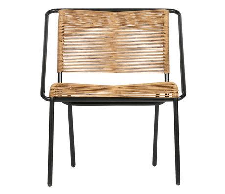 BePureHome fauteuil wisp (tuin) naturel bruin zwart kunststof 60x64x68cm