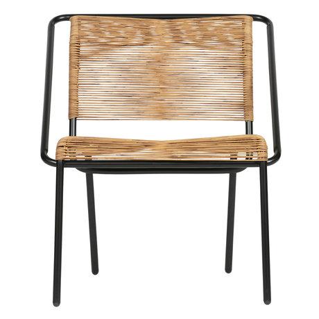 BePureHome armchair wisp (garden) natural brown black plastic 60x64x68cm