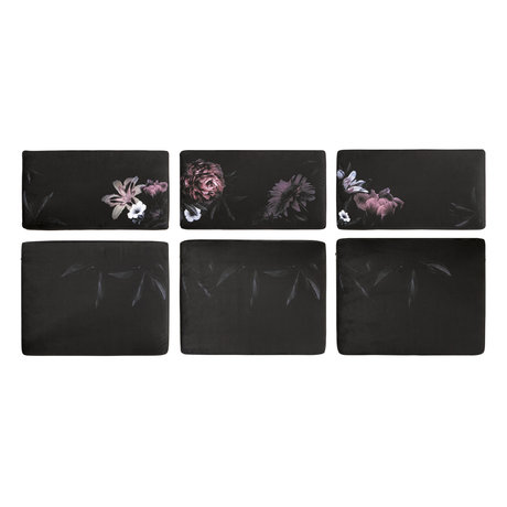 BePureHome Rodeo Kissen samt Blume für Outdoor-Couch 6er-Set