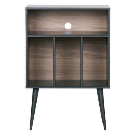WOOOD Cabinet James en bois de noyer noir 60x44x83cm