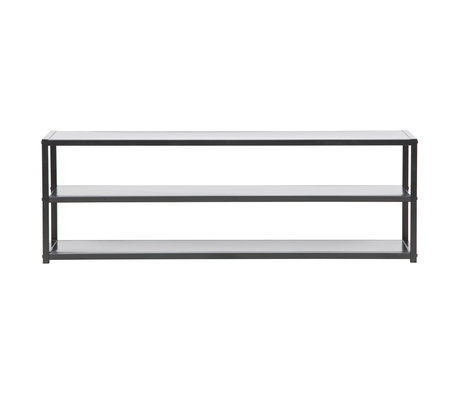 LEF collections Tv furniture Teun black metal 120x35x40cm