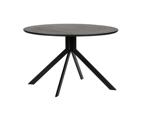 WOOOD Table à manger Bruno noir mdf ø120x75cm