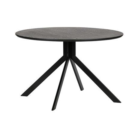 WOOOD Dining table Bruno black mdf ø120x75cm