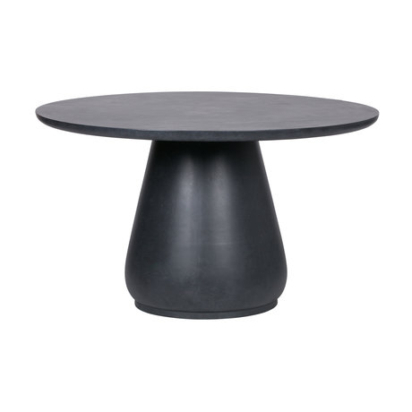 LEF collections Dining table Dover concrete look anthracite gray fiber clay ø130x76cm