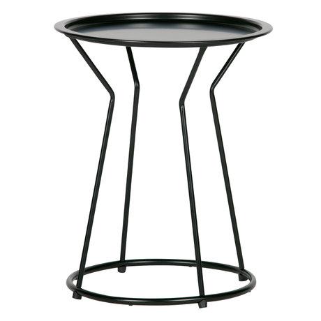 LEF collections Table d'appoint Yana en métal noir ø41x50cm