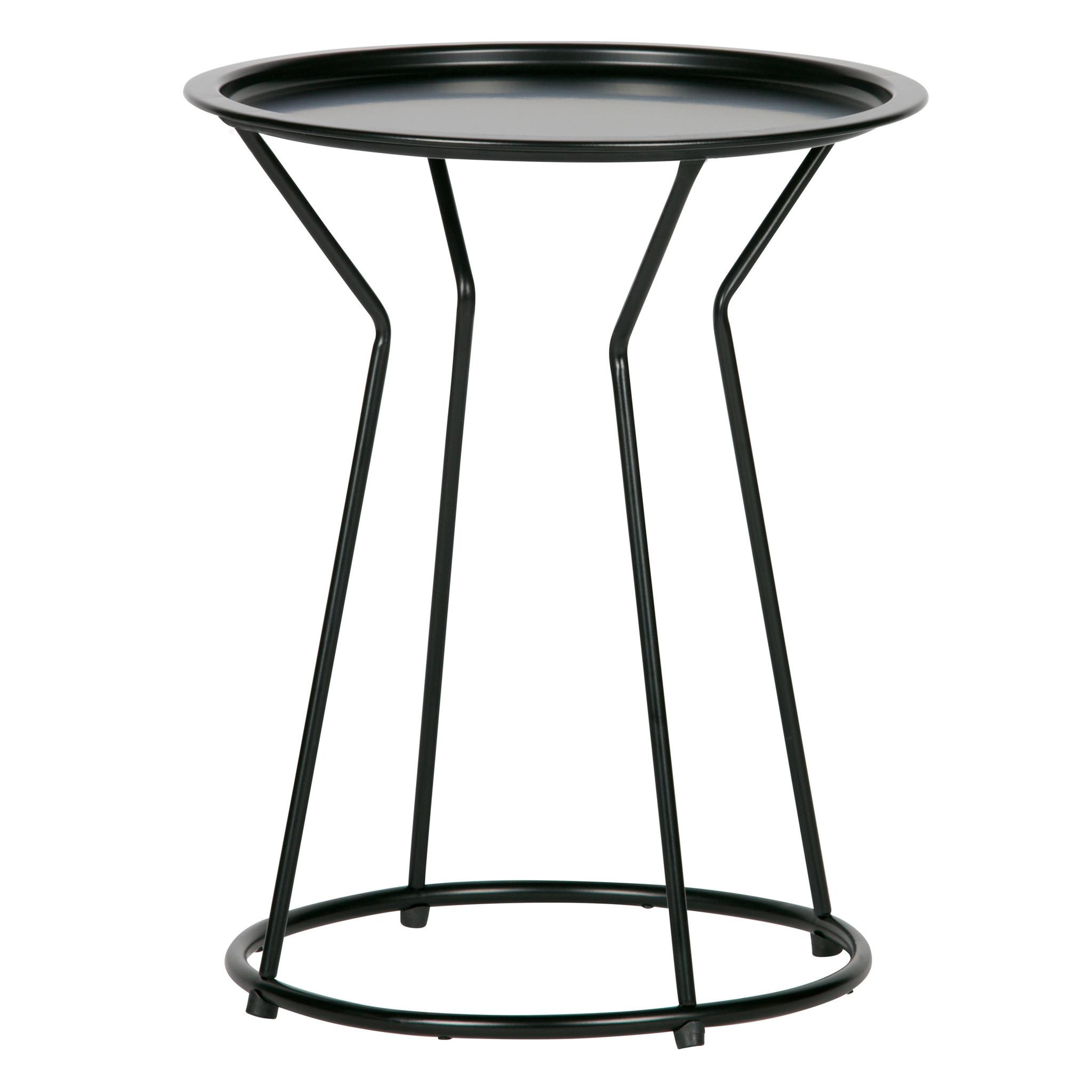 Lef Collections Table D Appoint Yana En Métal Noir ø41x50cm Wonen