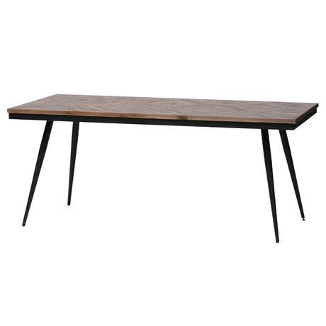BePureHome Dining table Rhombic brown wood metal 180x90x76cm