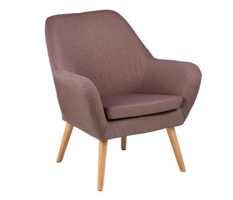 wonenmetlef Fauteuil Julian dusty roze Town textiel hout 76x74x84,5cm