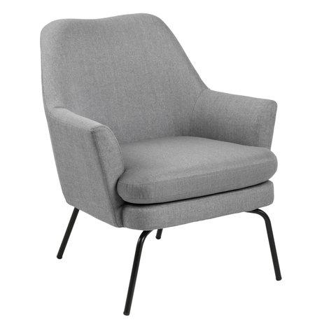wonenmetlef Fautueil Mose gris clair tissu textile corse 74x73x83cm