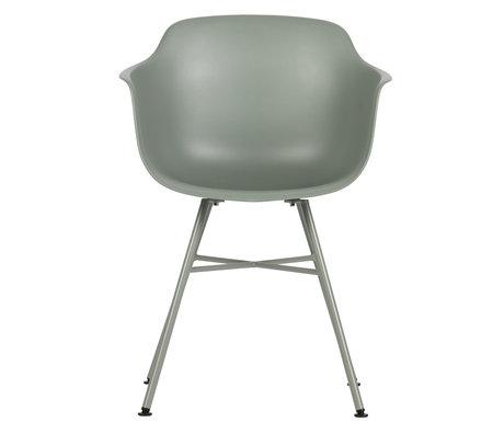 LEF collections Chaise de salle à manger Marly mousse gris plastique 57x53x80cm lot de 2