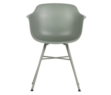 LEF collections Dining room chair Marly moss gray plastic 57x53x80cm set of 2
