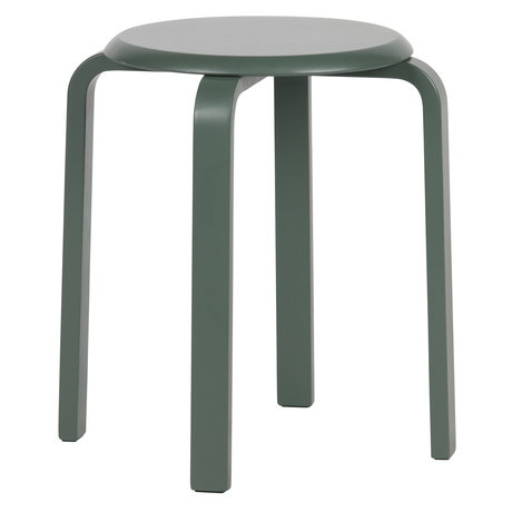LEF collections Stool Diede green wood 40x40x45cm