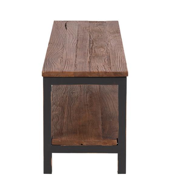 Tv Meubel Cool.Wonenmetlef Tv Furniture Alex Antique Brown Wood Metal 160x40x50cm