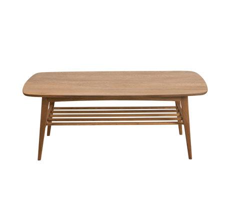 wonenmetlef Table basse Jolie bois naturel marron 120x60x47cm