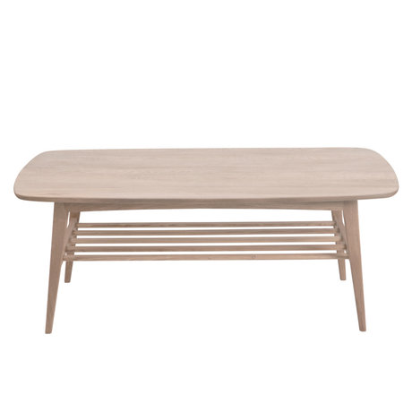 wonenmetlef Salontafel Jolie bruin met wit pigment hout 120x60x47cm