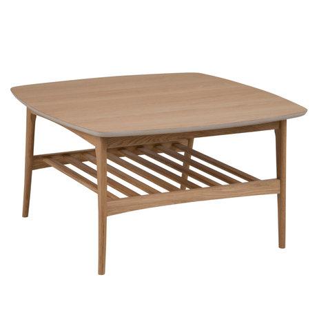 wonenmetlef Salontafel Jolie naturel bruin hout 80x80x45cm