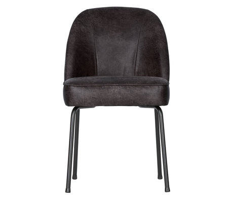 BePureHome Dining room chair Vogue black leather 50x57x82.5cm