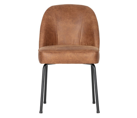 BePureHome Dining room chair Vogue cognac brown leather 50x57x82.5cm