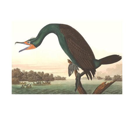wonenmetlef Gemälde Kormoran mehrfarbiges Plexiglas 60x90cm