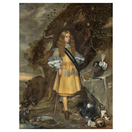 wonenmetlef Painting Memorie portrait Moses multicolour plexiglass 100x150cm