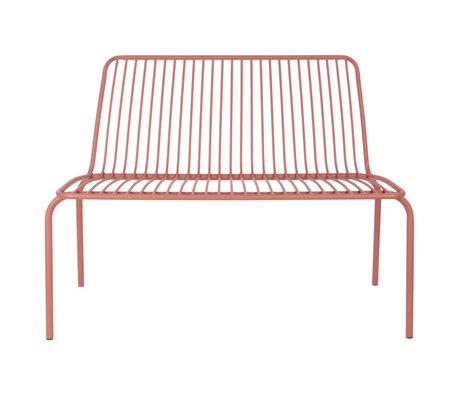 Leitmotiv Banc de jardin Lineate argile marron métal 100x43x84cm