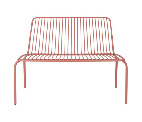 Leitmotiv Gartenbank Lineat Ton braun Metall 100x43x84cm