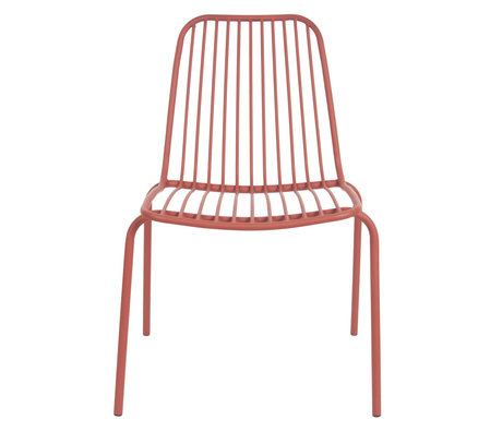 Leitmotiv Garden chair Lineate clay brown metal 43x43x84cm