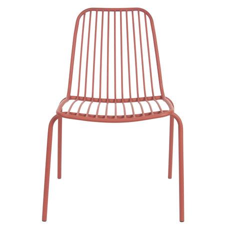 Leitmotiv Chaise de jardin Lineate argile marron métal 43x43x84cm