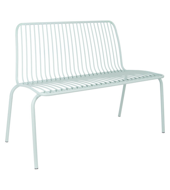Stupendous Leitmotiv Garden Bench Lineate Mint Green Metal 100X43X84Cm Pabps2019 Chair Design Images Pabps2019Com