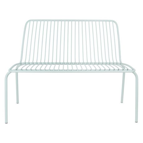 Leitmotiv Garden bench Lineate mint green metal 100x43x84cm
