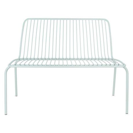 Leitmotiv Gartenbank Lineate Mintgrün Metall 100x43x84cm