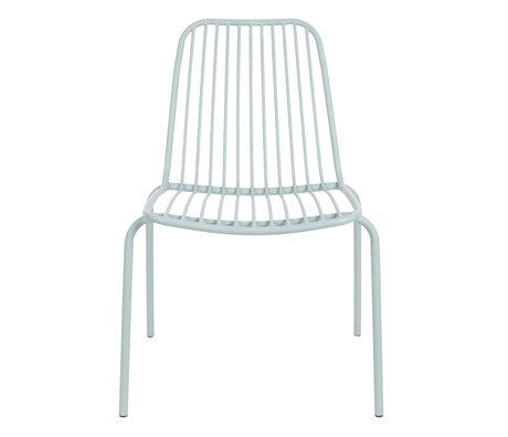Leitmotiv Chaise de jardin Lineate en métal vert menthe 43x43x84cm