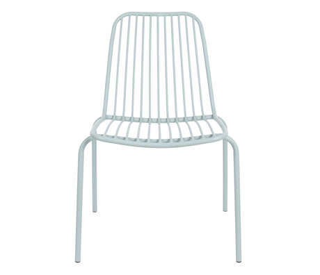 Leitmotiv Garden chair Lineate mint green metal 43x43x84cm
