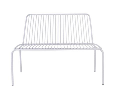 Leitmotiv Garden bench Lineate gray metal 100x43x84cm